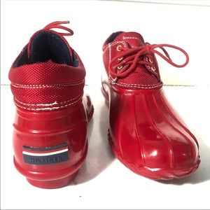 Tommy Hilfiger Shoes - Tommy Hilfiger red rain boots waterproof shoes